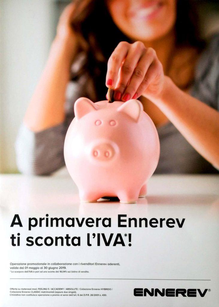 PROMOZIONE MATERASSI ENNEREV – VALIDA FINO AL 30 GIUGNO 2019
